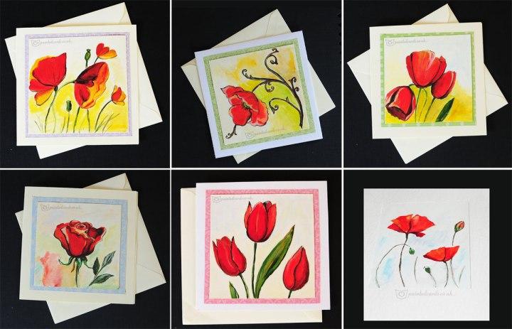 spring-giftpainted-handmade-greeting-card-poppies-rose-stulip