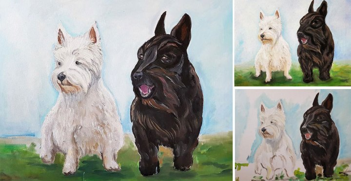 original-art-oil-painting-on-canvas-black-and-white._dog-portraits-gift-good-value-uk-artist-pest--portrait