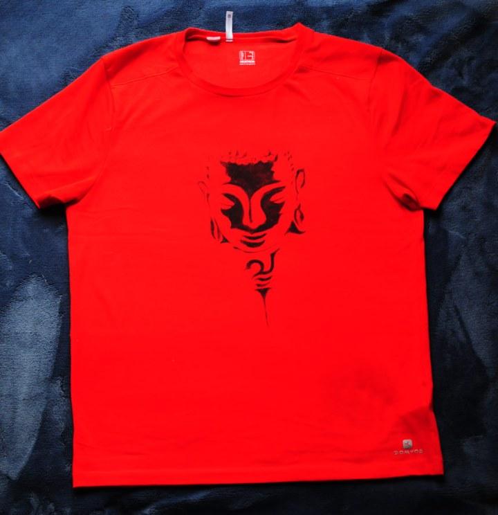 BudhaHand painted t-shirt, statement tshirt, handmade tshirt, fashion tshirt