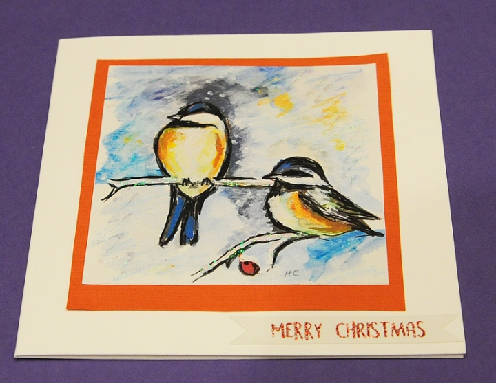 Christmas cards winter birds