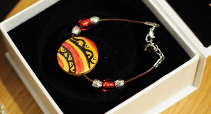 Hand painted jewellery- bracelets