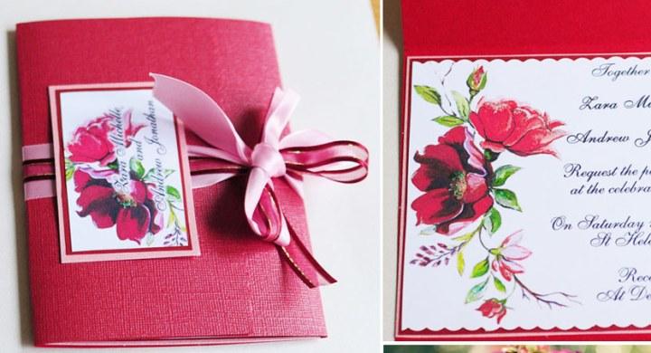 Wedding invitation Marsalaflowers