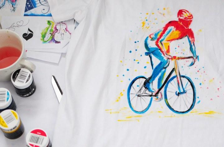 Hand painted t-shirt, statement tshirt, handmade tshirt, fashion tshirt