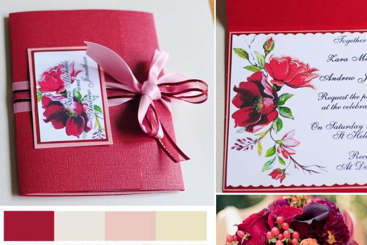 Marsala-red-burgundy-roses-invitation-pantone-birmingham-Middlesbrough-handmade-bespoke-midlands-stationery-lacock-artistic-quick-best-value-for-money