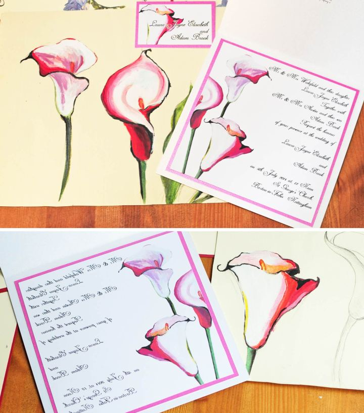 Calla-Lily-personalised-painted-wedding-wiltshire_England