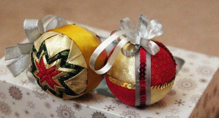 Quilted Christmas ballornaments