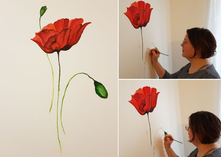 mural-art-painting-on-the-wall-poppies-painting-