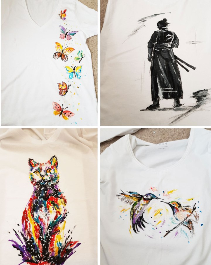 Wearable-art,-design-clothing,-art-t-shirt,-unique-gift,-art-shirt,-painting-on-clothing,-unique-clothing,-art-tee,-handmade-good-price