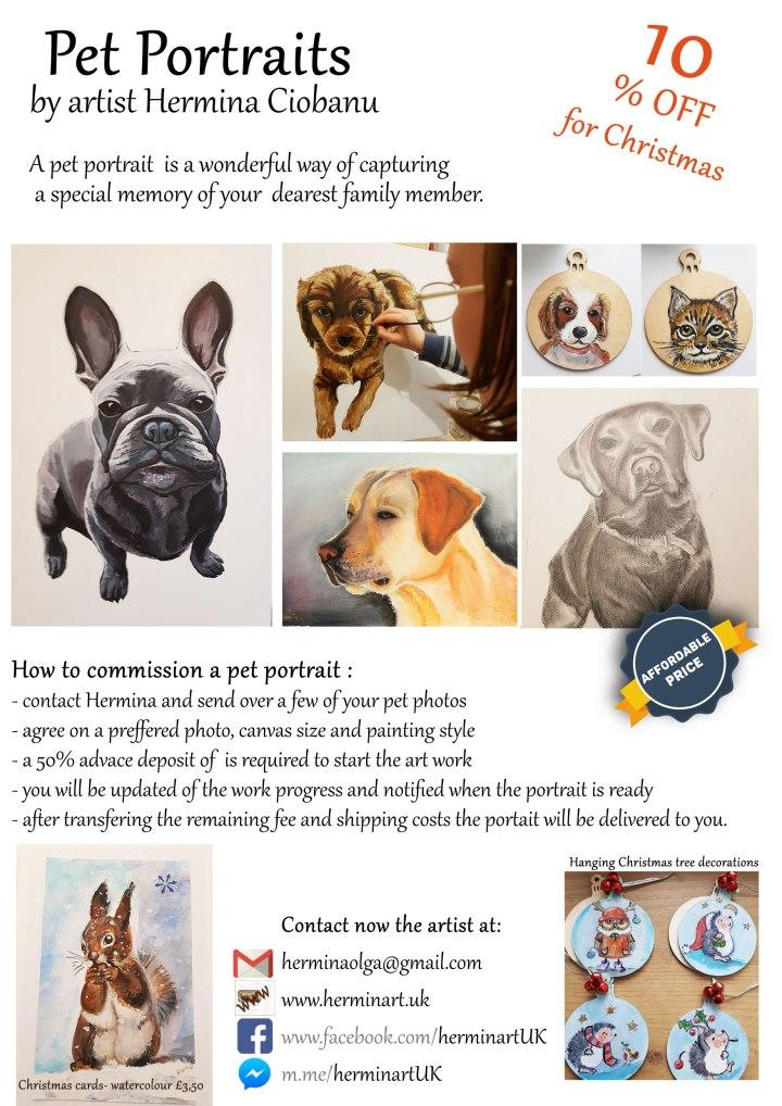 Pet portrait commission-flyer-for-Christmas