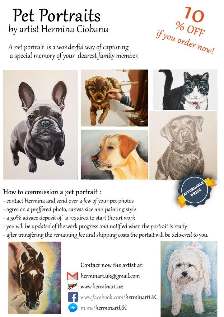 Pet-portrait-commission-flyers-order-now-uk