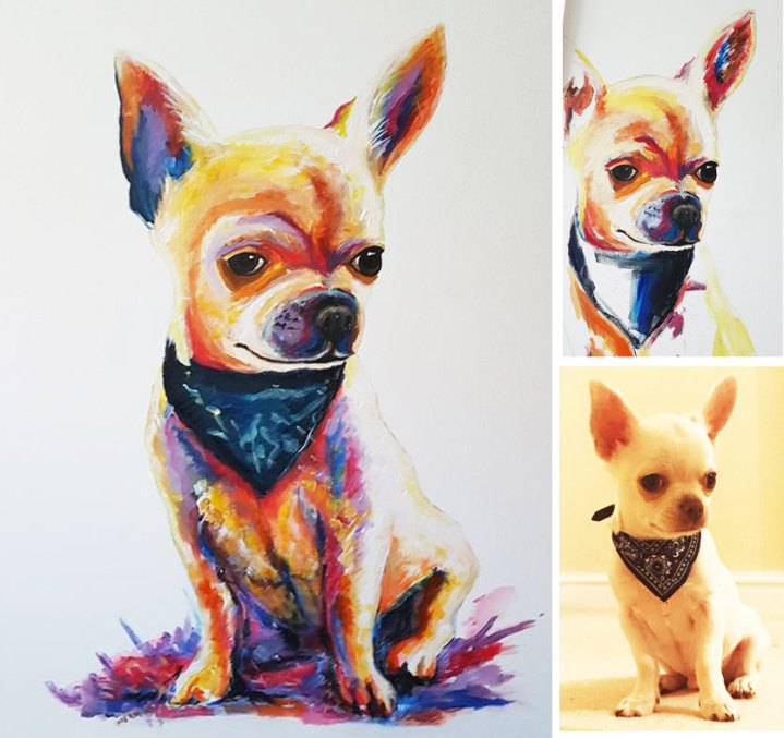 pet-portrait-on-canvas-chihuahua-good-value-price-art-pop-commission
