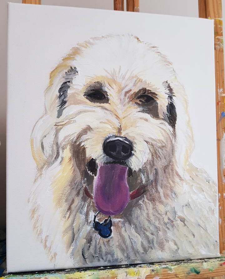 commissioned pet portraitAcrylic on canvas