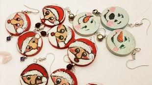 earrings-and-pandant-hand-paited-wood-snowmanBath