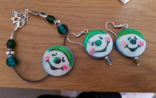 earrings-and-pracelet-hand-paited-wood-snowman