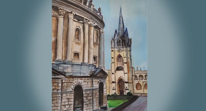 Oxford watercolour painting