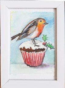 Robin-bird-small-painting-watercolor-beautiful-gift