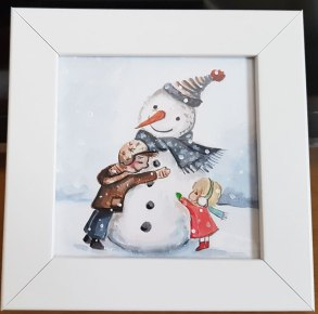 Snowman-small-painting-watercolor-beautiful-gift