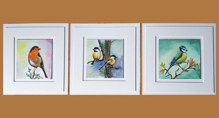 Birds watercolor originalpaintings