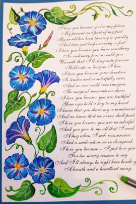 her-vows-renewal-beautiful-blue-framemorning-glory-flower-special-order