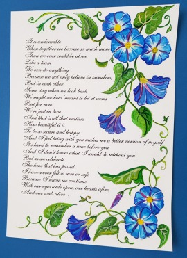 him-vows-renewal-beautiful-blue-framemorning-glory-flower-special-order