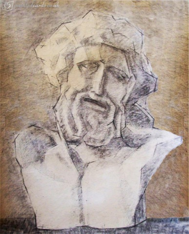 Bust of Laocoon - cayon study
