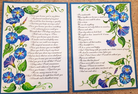 vows-renewal-beautiful-blue-framemorning-glory-flower-special-order