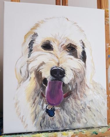 commissioned pet portraitAcrylic on canvas