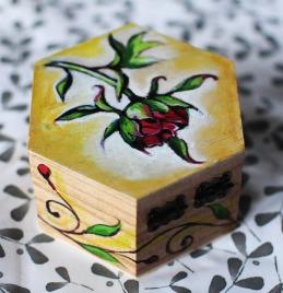 Hand-painted-jewellery-box-wood-giftpeony-flower-yellow-beautiful