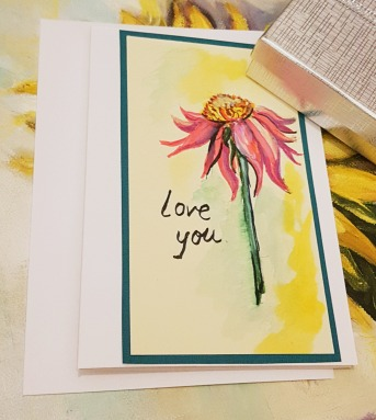 hand-painted-watercolor-card-pink-flower-love-you-