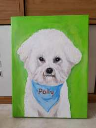 polly_pet portrait oil on canvasmemories