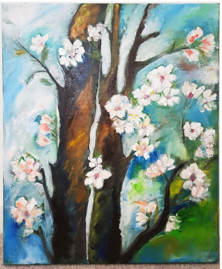 landscape-oil-on-canvas-blooming-treehand-painted-painting-home-decor-new