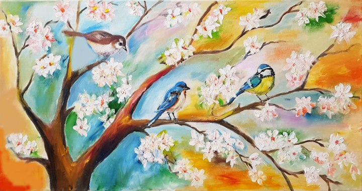 landscape-oil-on-canvas-spring-blooming-tree-and-birdshand-painted-painting-home-decor