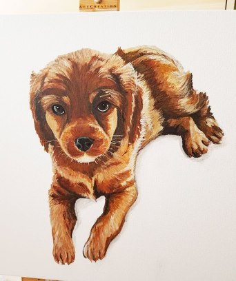 pet-portrait-dog-acrylic-on-canvas-beautiful-gift-hand-painted-direct-from-artist-commissioned-custom-cut-puppy-Bristol
