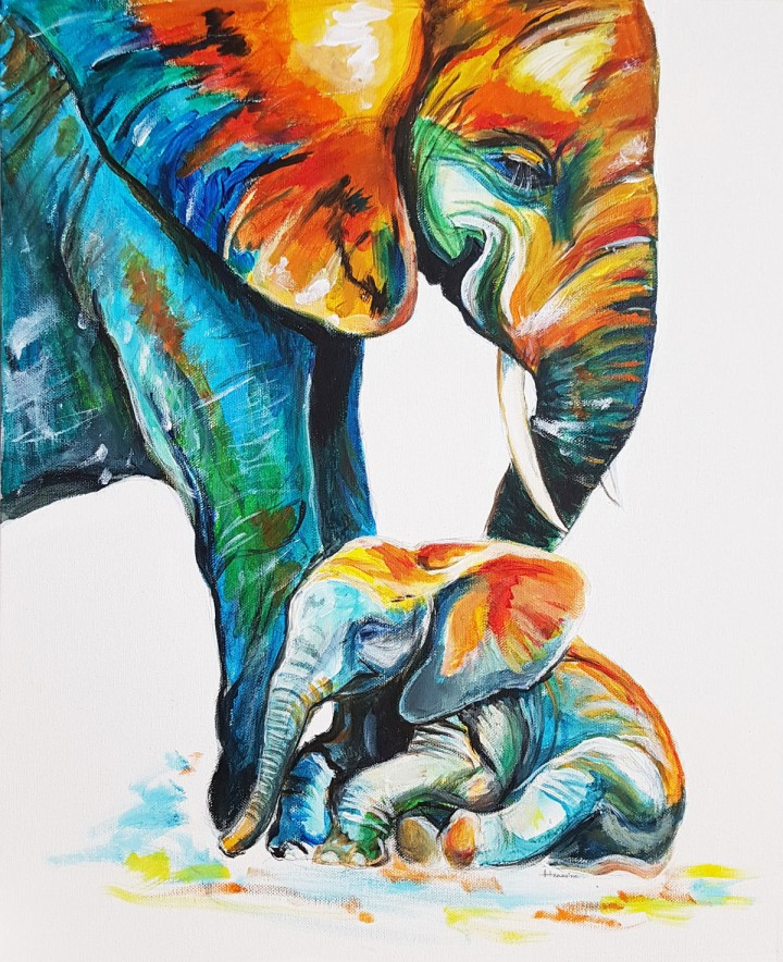 Elephant mothers love