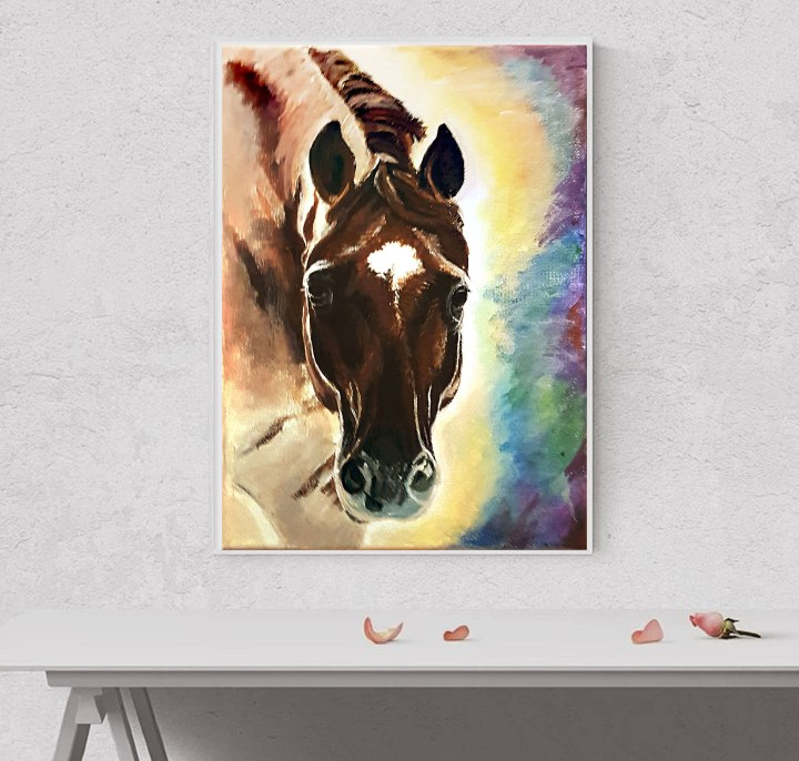 Horse portrait painting