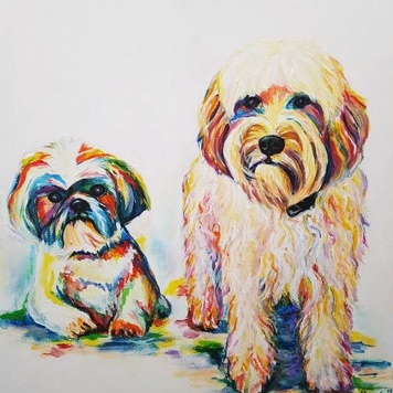 pop art-pet-portraits-dogs-acrylic-on-canvas-beautiful-gift-hand-painted-direct-from-artist-commissioned-custom