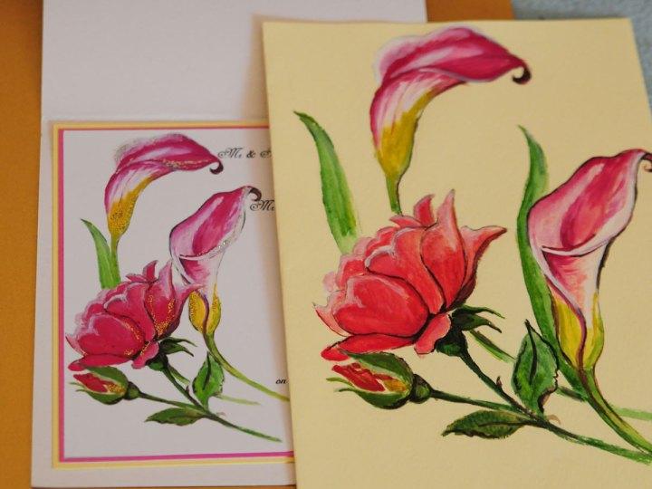 Rose elegant weddingcard