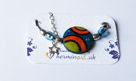 hand-painted-original-bracelet-geometric-orange-blue-shapr-wood-beautiful-gift-for-her