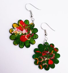 hand-painted-original-earrings-abstract-wood-beautifu-green-red-colourful-gift-for-her