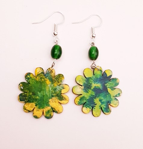 hand-painted-original-earrings-abstract-wood-beautifu-greenl-colourful-gift-for-her