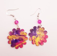 hand-painted-original-earrings-abstract-wood-beautifu-purple-colourful-gift-for-her