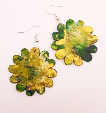 hand-painted-original-earrings-abstract-wood-beautifu-yellow-colourful-gift-for-her