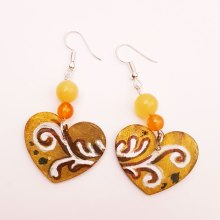 hand-painted-original-earrings-abstract-wood-beautifu-yellow-heart-colourful-gift-for-her