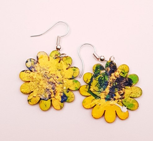 hand-painted-original-earrings-abstract-wood-beautifu-yellow-sp-colourful-gift-for-her