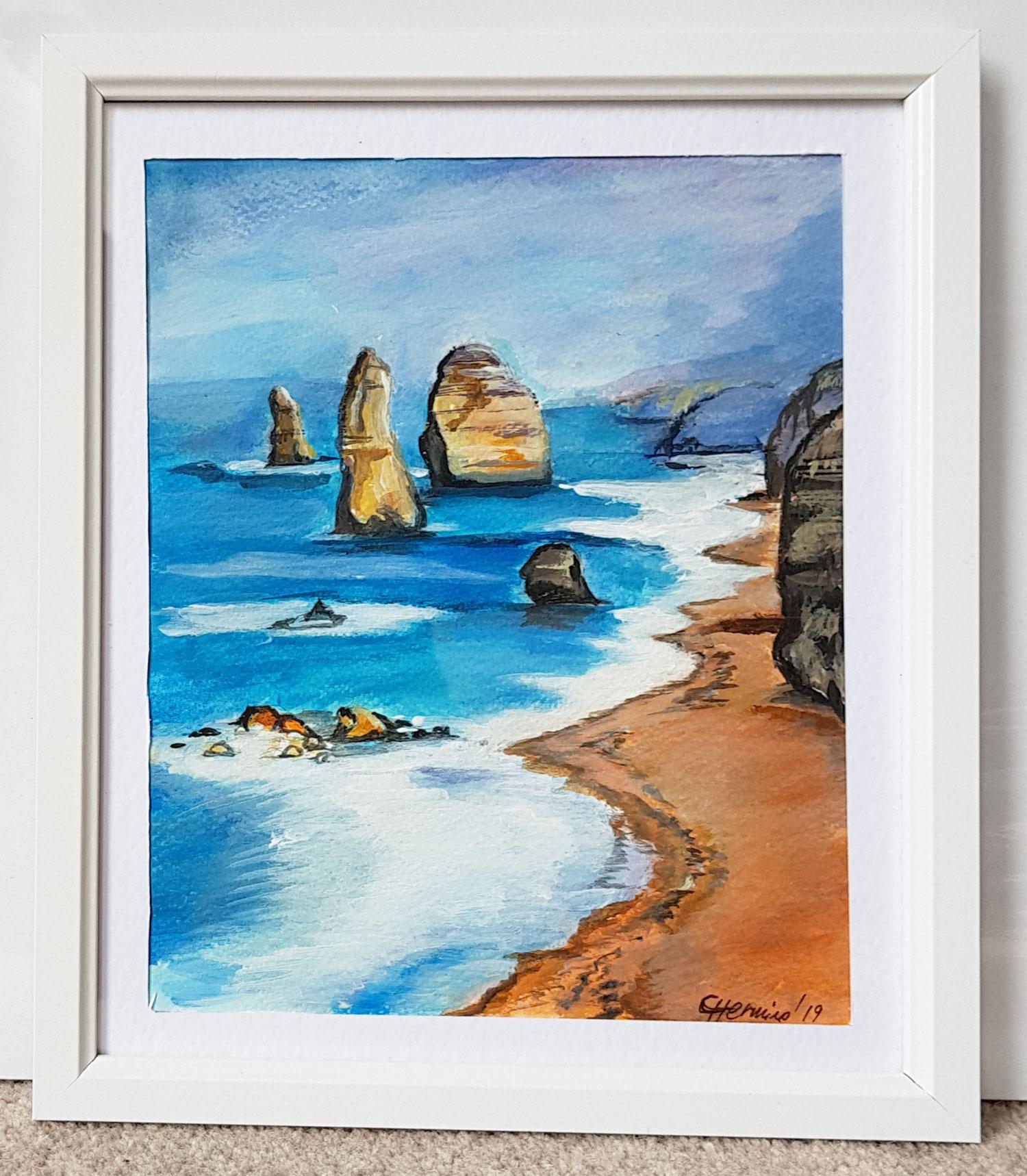 Seascape-oil-on-canvas-sea-rocks---painting-oil-on-canvas-paint