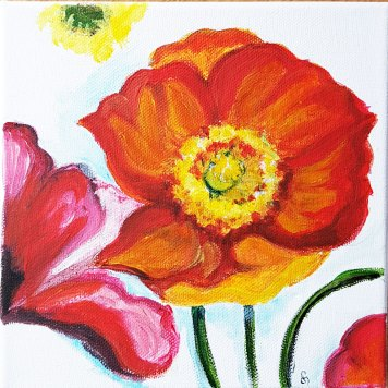 2wPoppies-on-the-wall-beautiful-red-flowers-suprarealisticacrylic-painting-on-canvas-4-pannels-