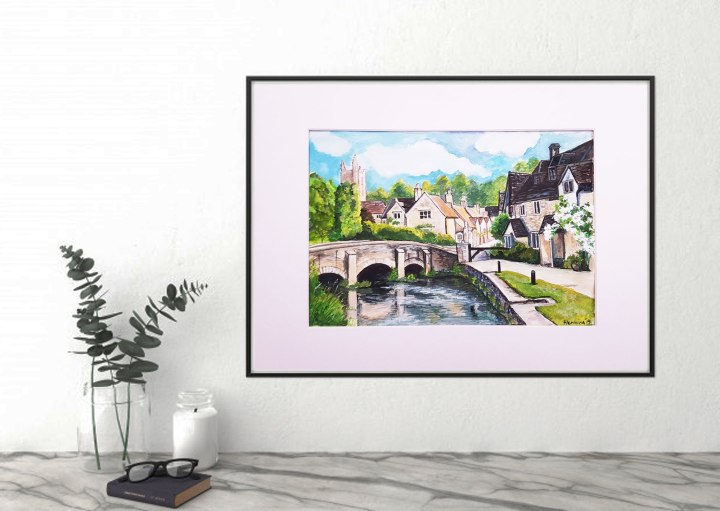 Castle Combe painting