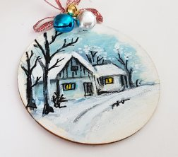 hangingchrismastree-decorations-hand-painted-on-wood-first-christmas-house-winter-christmasgiftpersonalised
