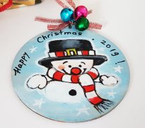 hangingchrismastree-decorations-hand-painted-on-wood-snowmen-winter-christmasgiftpersonalised