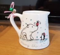 Candle-for-xmasunique-gift-hand-painted--personalized-polar-bear-Christmaslimited-editionSwindon